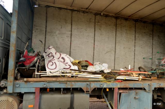 כל החפצים שלא פונו נלקחו (צילום: רפי מיכאלי)
