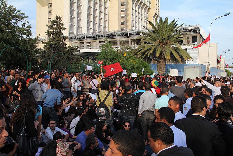 המחאה חזרה לרחובות תוניס