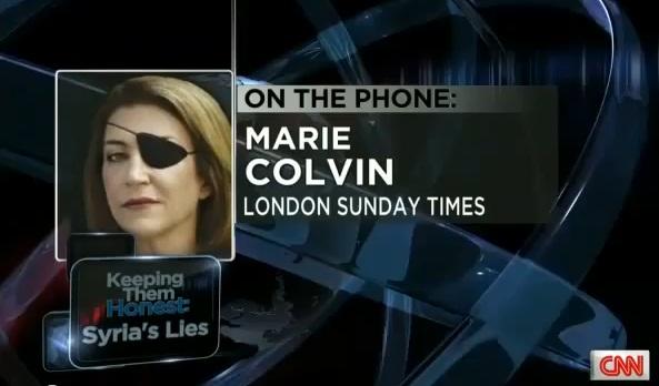 הכתבת מארי קולבין בדיווח האחרון שלה מחומס לרשת CNN