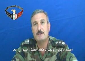 """מפקד """"צבא סוריה החופשי"""", הגנרל ריאד אל-אסעד"""