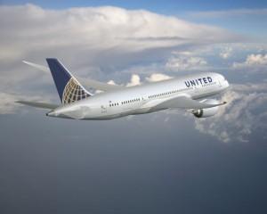 מטוס הדרימליינר של יונייטד. לחברה ששה מטוסים כאלה. (צילום: יונייטד איירליינס יחסי ציבור)