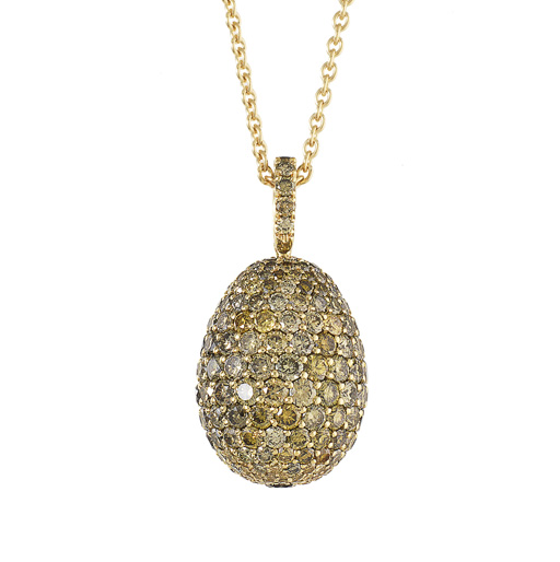 Fabergé Suisse SA. תליון ביצה מסדרת LES IMPÉRATRICES, מחווה לביצי הפסחא של פטר קרל פברז
