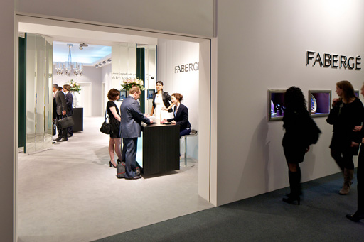 דוכן Fabergé Suisse SA בתערוכת BASELWORLD 2012