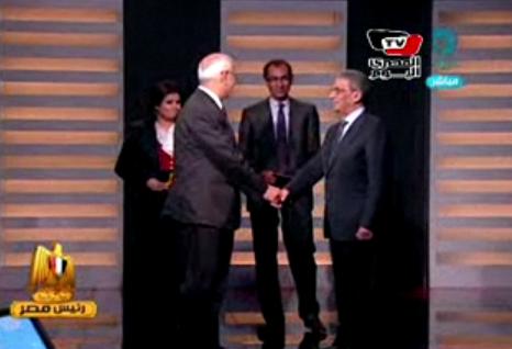 לראשונה בהיסטוריה המודרנית של מצרים: עימות טלוויזיוני בין המועמדים לנשיאות