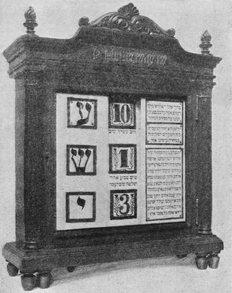 לוח ספירת העומר המציג את הספירה בימים (למעלה) ובשבועות וימים (למטה