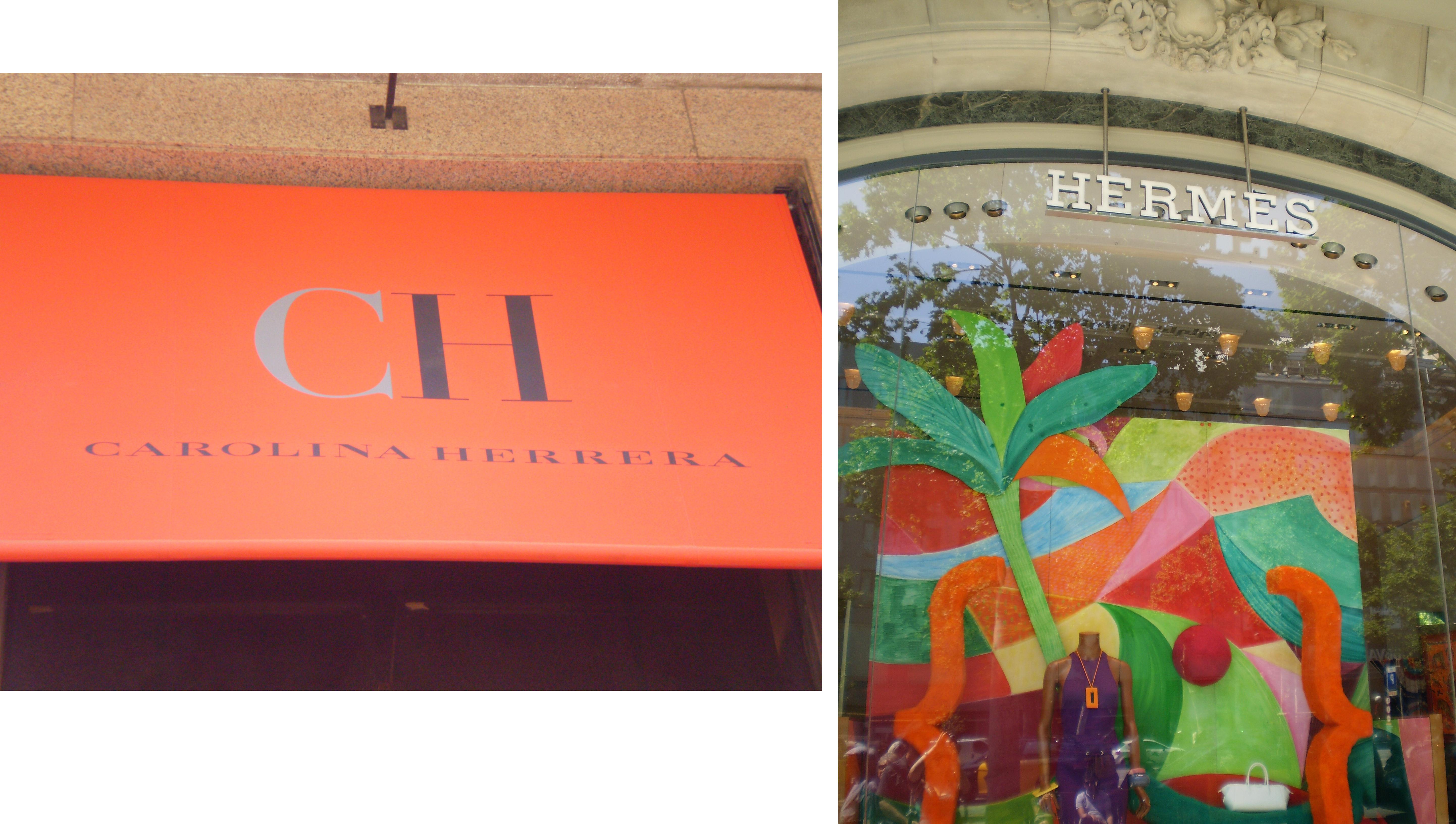 """אופנה עילית של """"קרולינה הררה"""" ו""""הרמז"""" ברחובותיה הראשיים של ברצלונה. צילום: אריאלה גויכמן"""