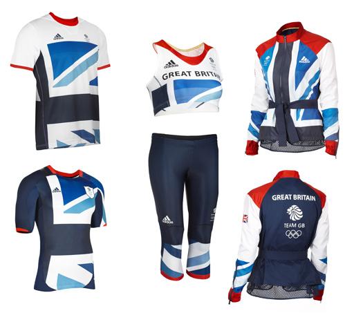 מדי הנבחרת האולימפית הבריטית. עיצוב: סטלה מקרטני לאדידס