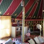 """האוהל המרוקאי ב""""הבקתה של אורה"""" בעמוקה. (צילום: עירית רוזנבלום)"""