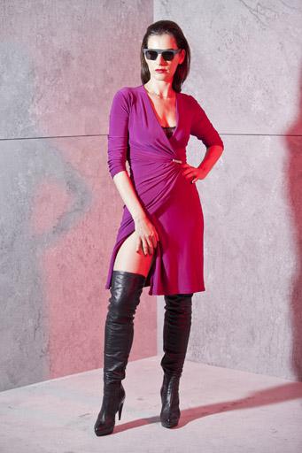 איילת זורר בשמלה מקולקציית החורף 2012-2013 של רשת האופנה גולברי. צילום: לם וליץ