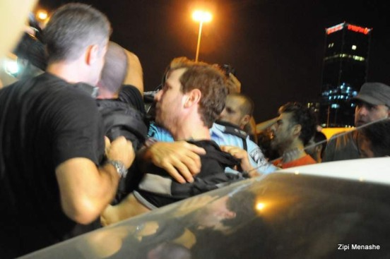 מעצרים ותרסיס פלפל (צילום: ציפי מנשה)