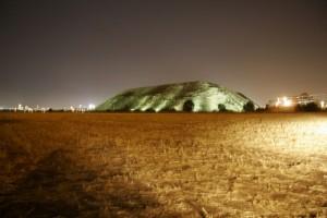 הר התרבות, חיריה לשעבר - בלילה. (צילום: אלבטרוס)