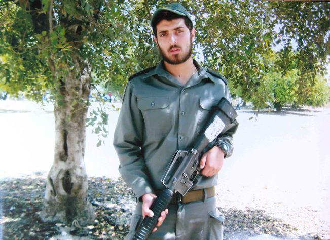 """סמל ראשון חיים חלסצי לוחם מג""""ב שנפל היום בבסיס האימונים מעלה מכמש (צילום: משטרת ישראל)"""