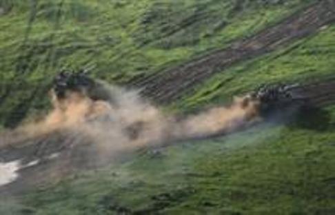 """תאונת אימונים ברמת הגולן (צילום: דו""""צ)"""