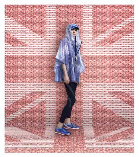 קולקציית הספורט הפטריוטית של סטלה מקרטני מושפעת מהעיצוב לנבחרת בריטניה. צילום: ADIDAS