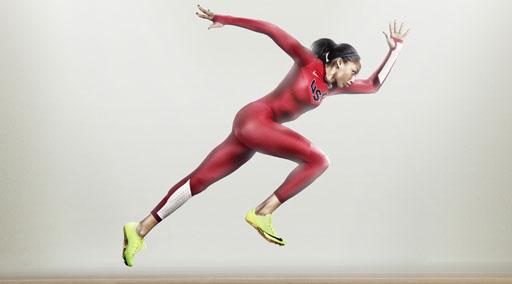 אליסון פליקס, זוכת מדלית זהב בריצת 200 מטרים ושותפה לרביעית הרצות האמריקאית שזכתה במדליה הזהב בריצת 4X100 מטרים וקבעה שיא עולם חדש. צילום: NIKE