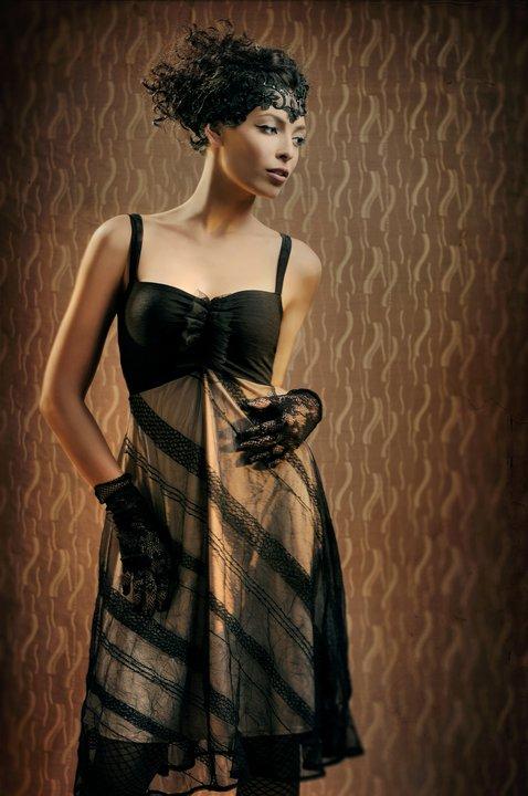 שמלת ערב של Lilybrush בסגנון שנות ה-30. צילום: ג'ני ברסט