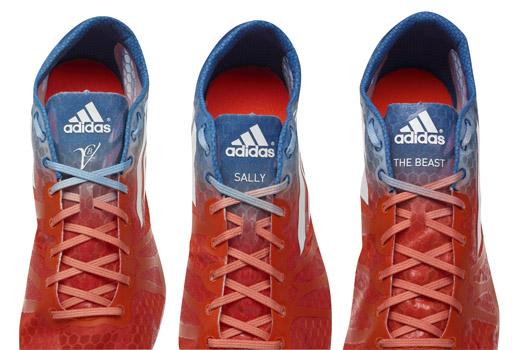 הנעליים של יוהאן בלייק (The beast), סאלי פירסון (Sally) ושל ורוניקה קמבל . צילום: ADIDAS