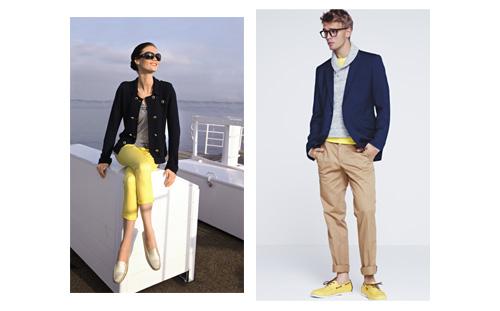 הצהוב ממשיך איתנו גם לסתיו. מימין: מתוך קולקציית בגדי גברים לסתיו-חורף 2012-13 של H&M; משמאל: מתוך קולקציית בגדי נשים לסתיו-חורף 2012-13 של NEXT UK