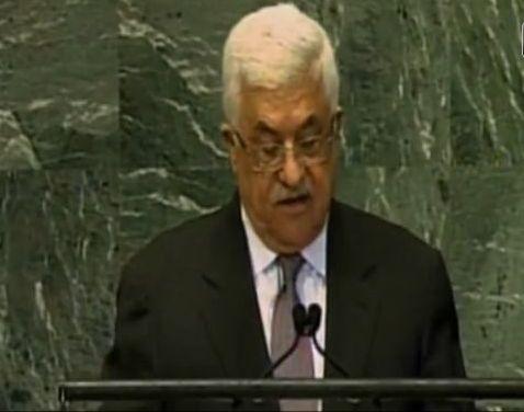 """אני מאשים. אבו מאזן בעצרת האו""""ם"""