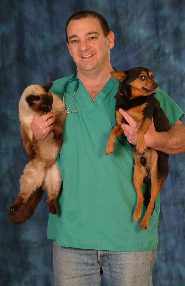 """ד""""ר איתן קריינר מבית החולים הווטרינרי במכבים. הטסת חיות דורשת התארגנות"""