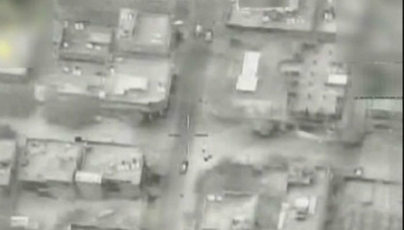 """תקיפת מטרה בצפון עזה (צילום: דו""""צ)"""