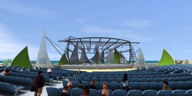 התיאטרון בפארק אשדוד ים נחנך בהופעה של שלמה ארצי. (צילום: עיריית אשדוד)
