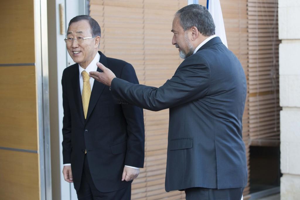 """ליברמן למזכ""""ל האו""""ם: """"חומת מגן 2"""" (צילום: פלאש 90)"""