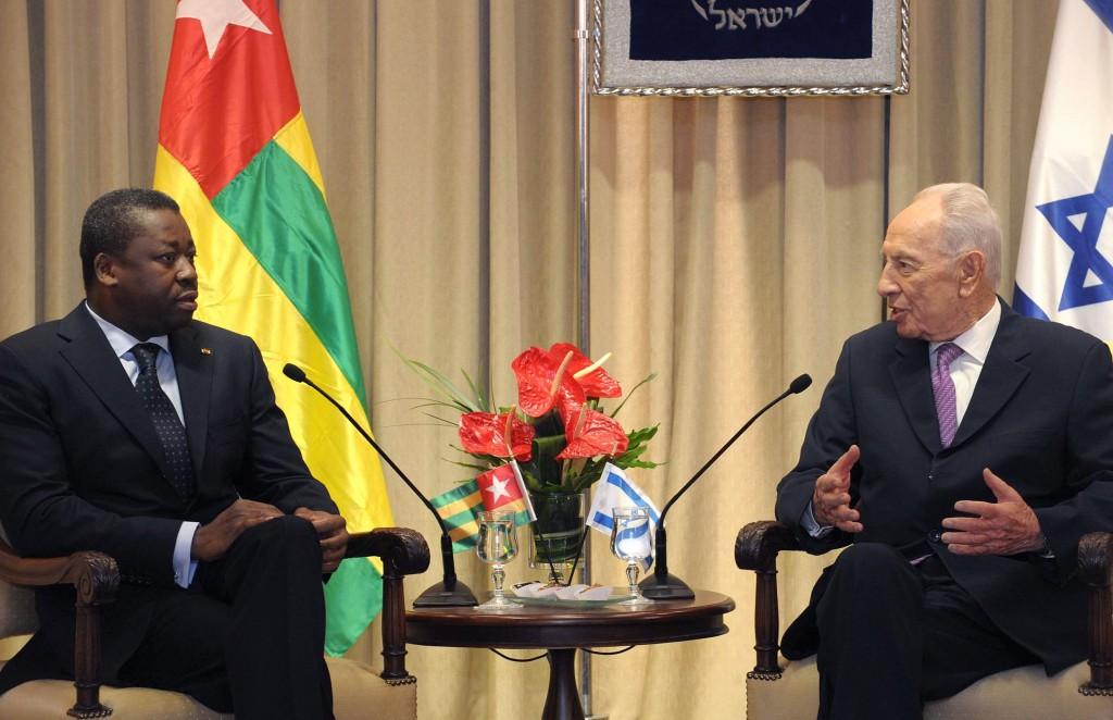 """יתמוך בישראל גם במועצת הביטחון. נשיא טוגו. (תצלום: מארק ניימן/לע""""מ)"""