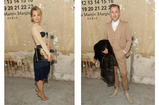 """השחקן אלן קאמינג (""""האישה הטובה"""") והשחקנית מנה סוורי (""""אמריקן פאי"""") לבושים MMMxHM. צילום:2012 WireImage"""