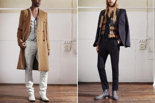 ועכשיו טוטאל לוק גם לגברים. שילוב צבעים של צבע ניוד (גוף), לבן, שחור וכסוף מככב גם בפרטים המוצעים לגברים. צילום: Maison Martin Margiela with H&M