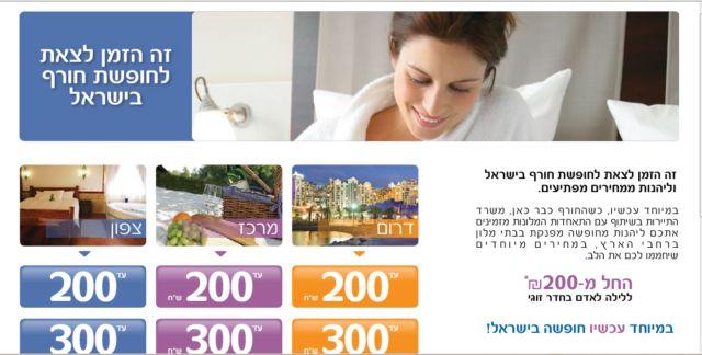 אתר קמפיין החורף של התאחדות המלונות בישראל ומשרד התיירות. ממנפים את חודשי השפל