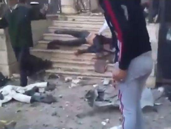 ההרג במסגד במחנה הפליטים אל ירמוק (מקור: יו טיוב)