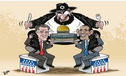 קריקטורה שפורסמה בתקופת הבחירות לנשיאות בארהב