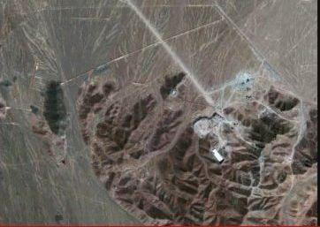 תצלום לוויין - המתקן התת קרקעי בפורדו