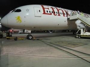 דרימליינר של אתיופיאן. 50 מטוסי דרימליינר הושבתו. (צילום: בואינג)