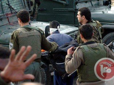מעצר הפלסטינים הלילה (צילום: סוכנות מען)