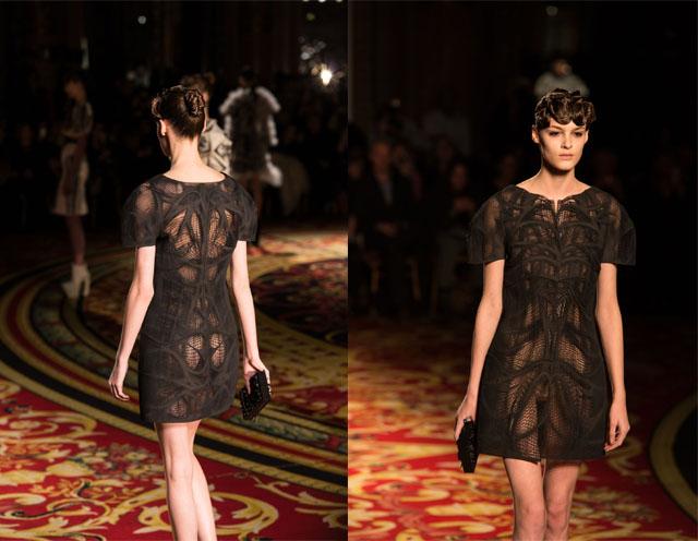 שמלה שחורה קטנה בעיצוב ואן הארפן (בשיתוף עם קורנר ומעצבי חברת מטריאליס). צילום: סטרטסיס