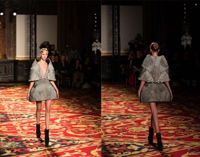 חצאית ועליונית בעיצוב ואן הרפן (בשיתוף עם פרופ' אוקסמן). צילום: סטרטסיס
