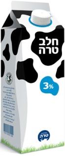טרה אוספת מהמדפים קרטוני חלב
