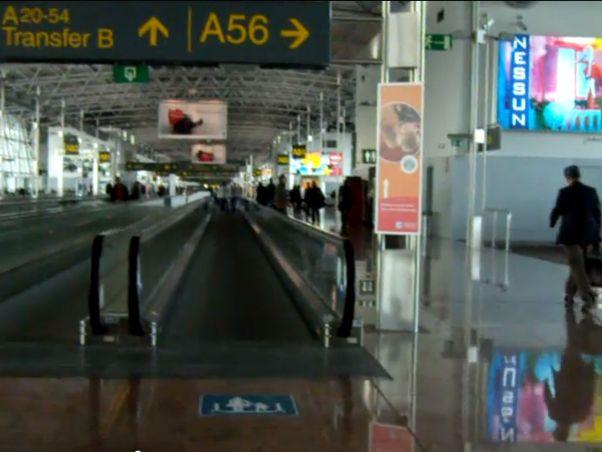 נמל התעופה בבריסל (מקור יו טיוב)