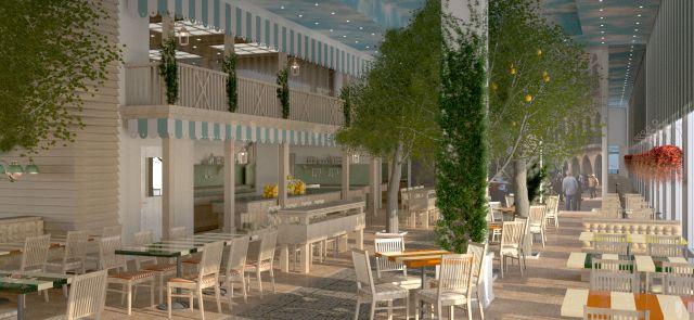 חדר האוכל בהרודס תל אביב של רשת פתאל. החברה עברה חלקית לצריכת חשמל פרטית. (צילום: רשת מלונות פתאל)
