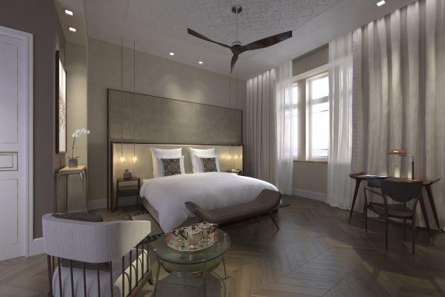 הדמיית חדר במלון נורמן. חדרים רחבי ידיים. (הדמייה: הדמיות 3dvision)
