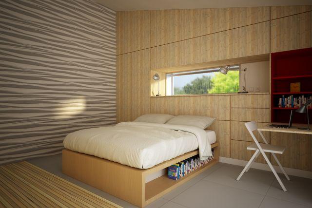 חדר השינה בבית הירוק
