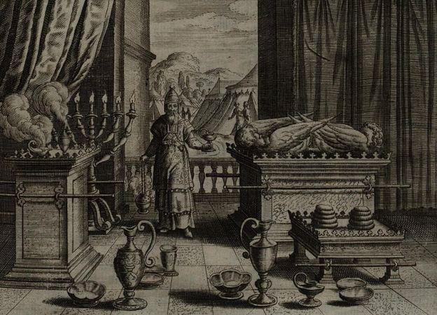 אהרון במשכן. איור מ-1670 (צילום: ויקימדיה)