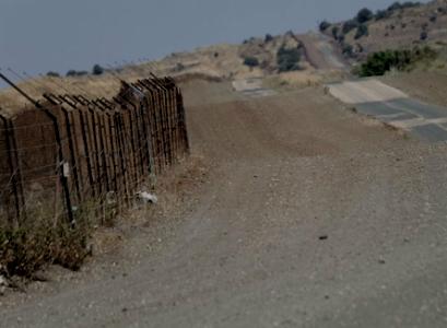 """גבול ישראל סוריה (צילום: ד""""צ)"""