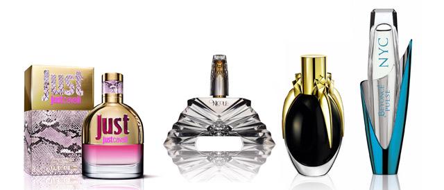 """ביונסה - Pulse. צילום: יח""""ץ; Fame - ליידי גאגא;  Nicole Richie ; בושם לנשים Just Cavalli. צילום: יח""""ץ; עריכה גרפית: מירה-בל גזית"""