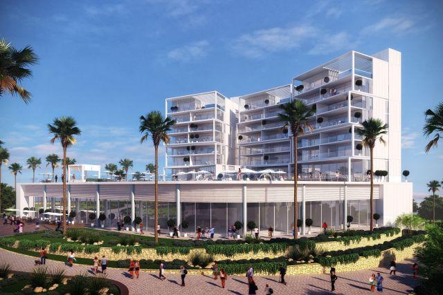 הדמיה של מלון הסוויטות החדש המתוכנן בחוף אשקלון. 33 סוויטות בשטח כולל של 15,000 מטרים רבועים