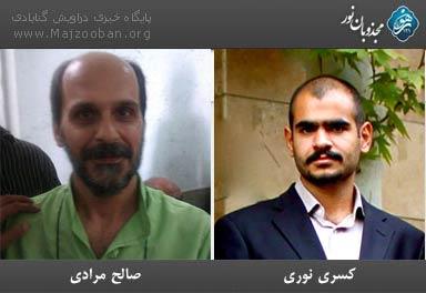 שני חברי המסדר הצוּפי שובתי הרעב (צילום: אתר majzooban.org)