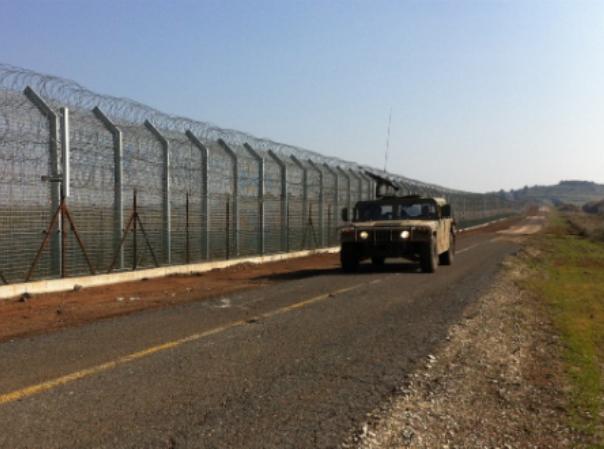 """גבול סוריה-ישראל (צילום דובר צה""""ל)"""