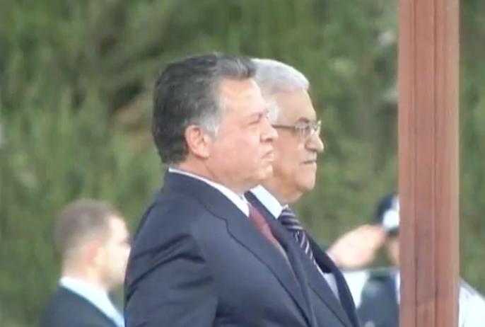 צעד ראשון בדרך לקונפדרציה? מלך ירדן עבדאללה השני וראש הרשות הפלסטינית מחמוד עבאס (צילום מסך)